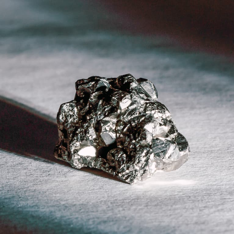 Fool's Gold / Pyrite Illuminated by a Beam of Light