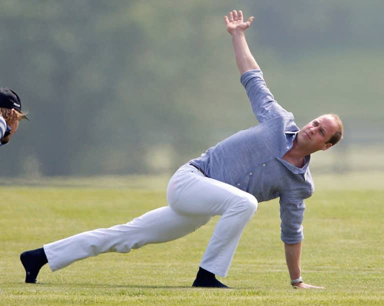 Prince William Doing Yoga In White Jeans Will Cure Your Back-To-Work Blues