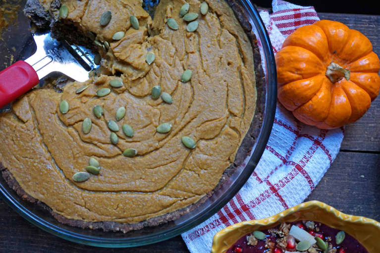 Creamy Superfood Pumpkin Pie (It's Gluten-Free!)