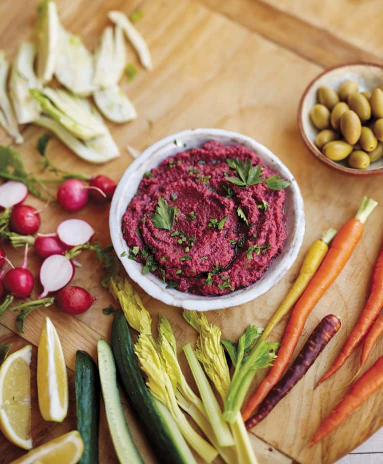 Purple Cauliflower Hummus That's (Almost) Too Pretty To Eat