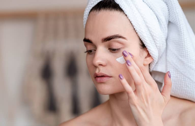 Applying Skin Care Product