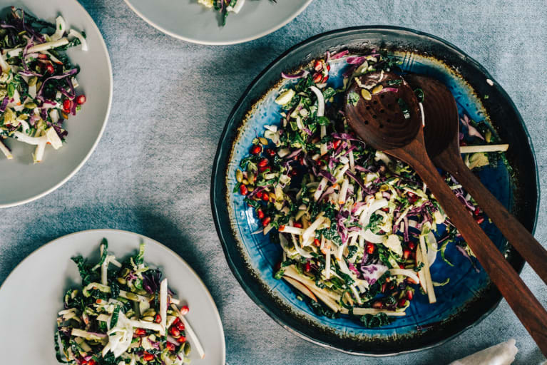 This Brussels Sprouts Slaw Has A Delicious Gut-Healing Ingredient