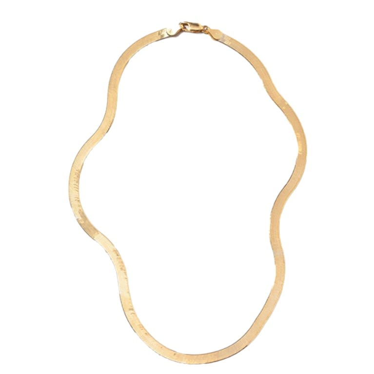 gold liquid chain necklace