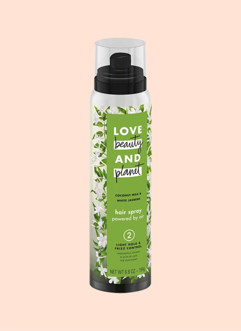 Love Beauty Planet Coconut Milk and White Jasmine Light Hold and Frizz Control Hair Spray