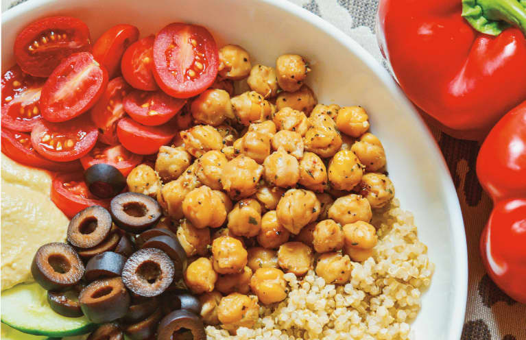 This Mediterranean-Inspired Vegan Bowl Will Help Keep You Full All Day Long