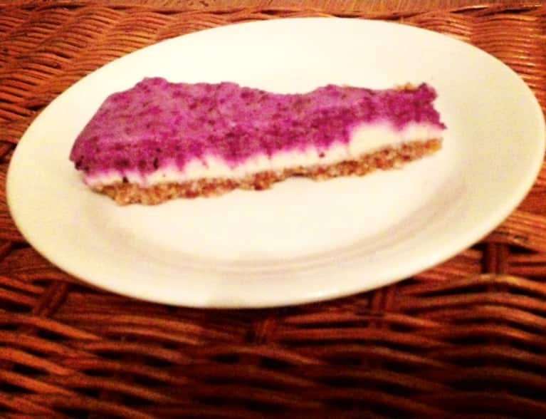 Raw Recipe: Lemon-Blueberry Cheesecake