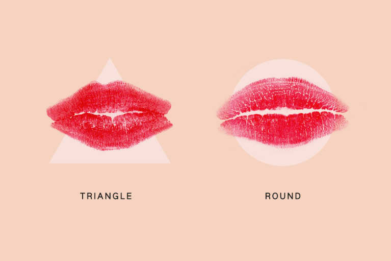 lip print reading triangle v round