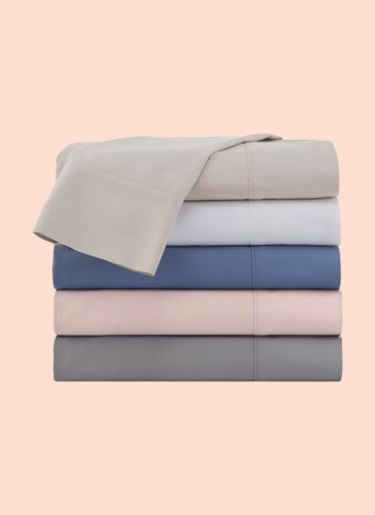 4. 300 Thread Count Organic Cotton Brushed Percale Sheet Set from Under the Canopy