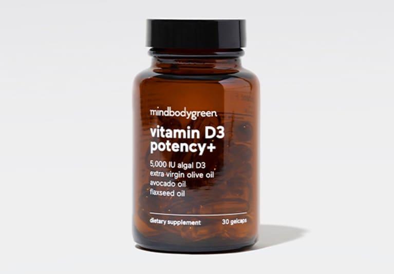 mindbodygreen vitamin D3 potency bottle