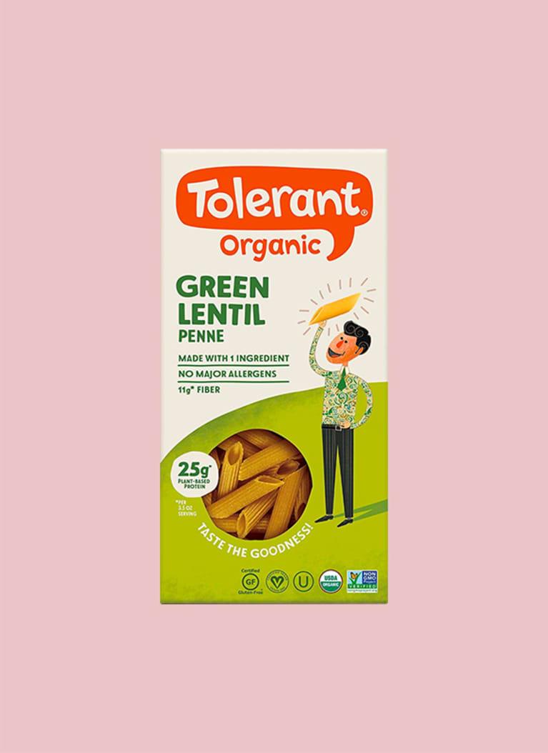 Tolerant Organic Green Lentil Pasta