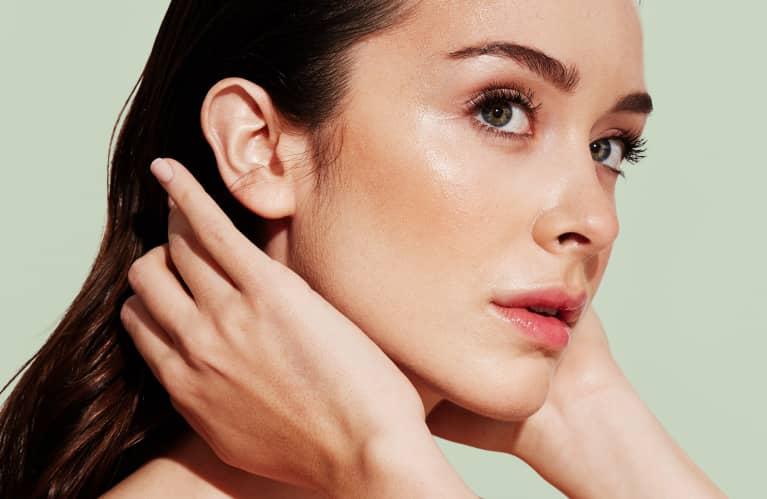 Young Woman With Fresh Dewey Skin