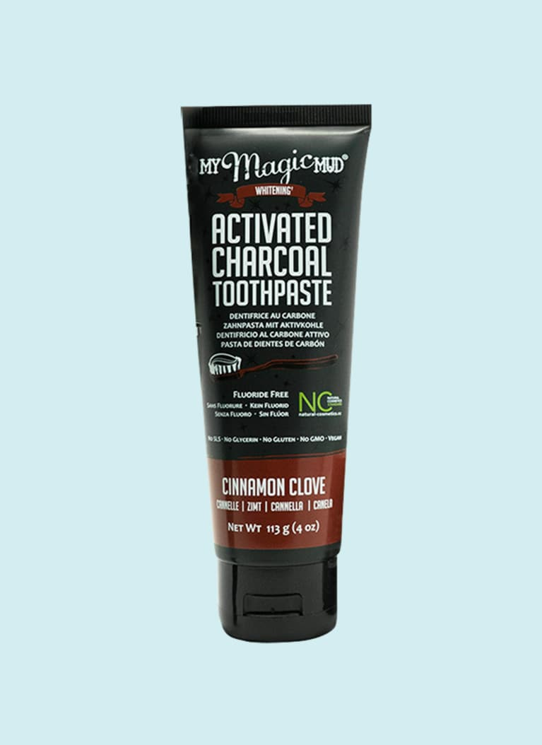 My Magic Mud cinnamon clove charcoal toothpaste