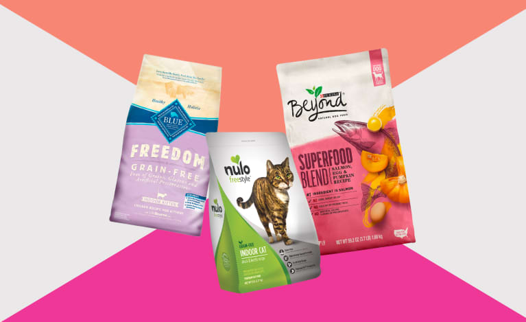 Collage of healthy pet foods to help your dog or cat eat naturally