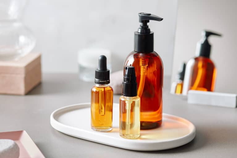 Natural Oils In Bottles On Board