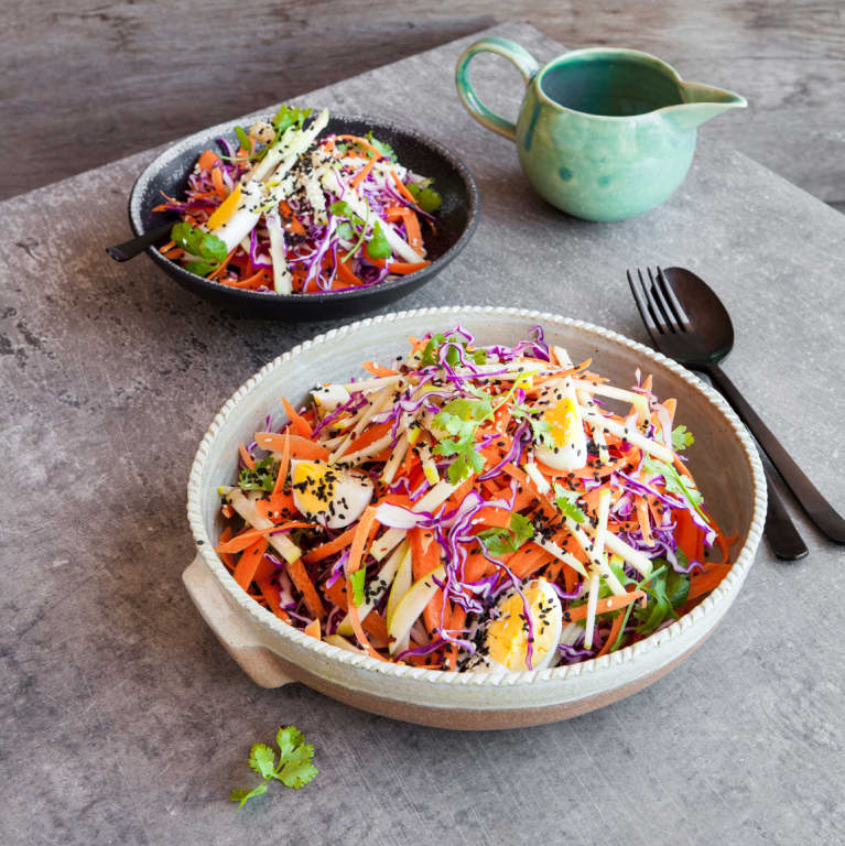 This Carrot Salad With Turmeric Sauce Will Make Your Skin Glow