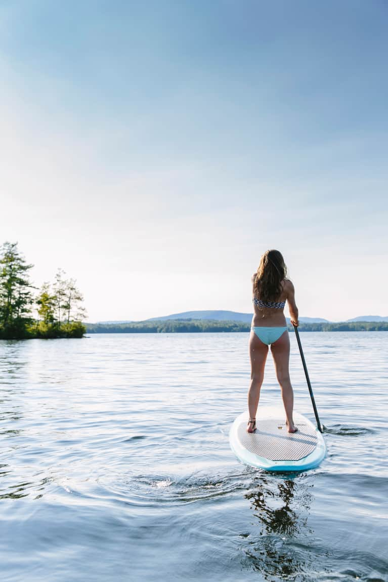Here's How To Get A Barre Workout In On A Stand-Up Paddleboard