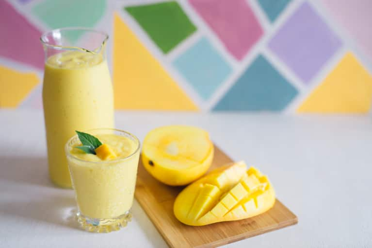 An Orange-Mango Creamsicle Smoothie To Sip Poolside