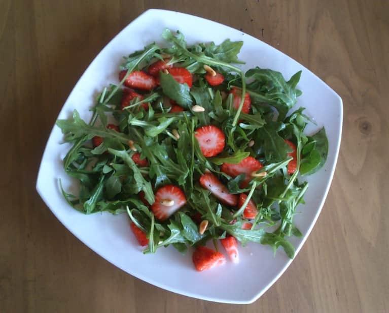 Sweet-N-Salty Strawberry Arugula Salad