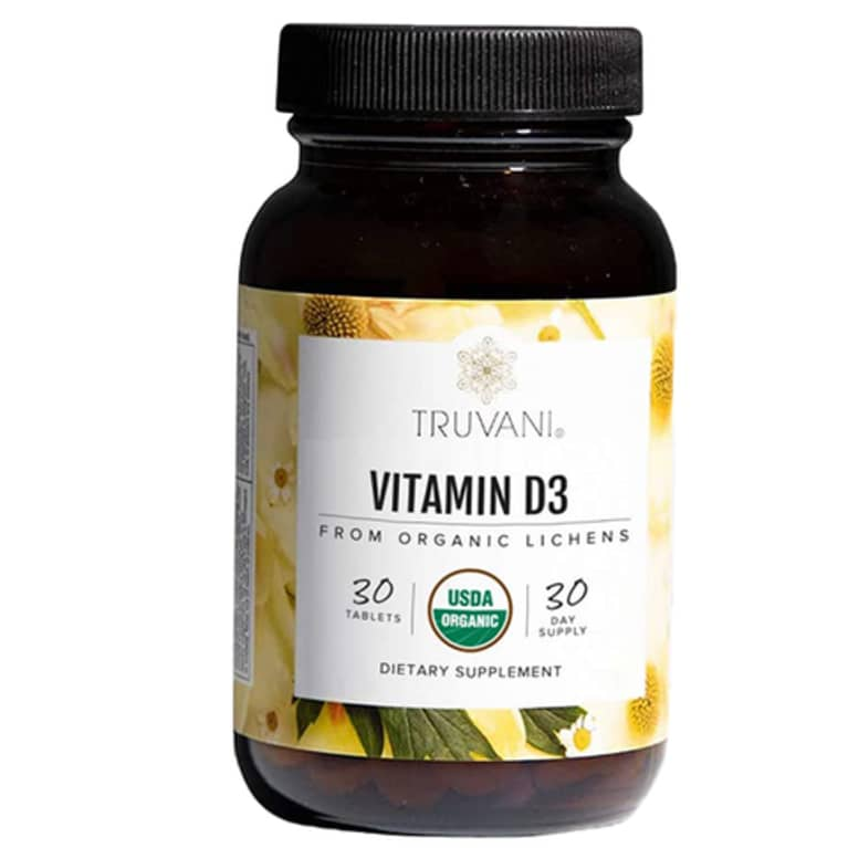 bottle of Truvani Vitamin D3
