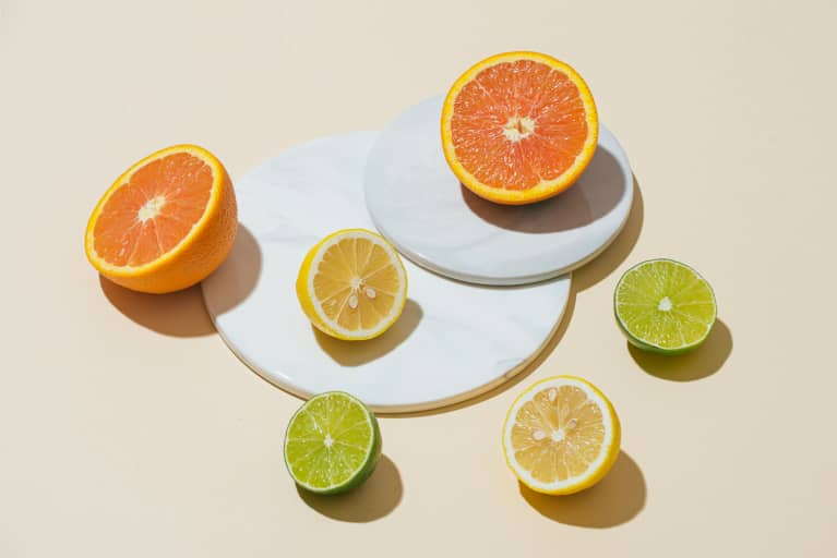 Sliced Oranges, Lemons, and Limes on a Minimal Background