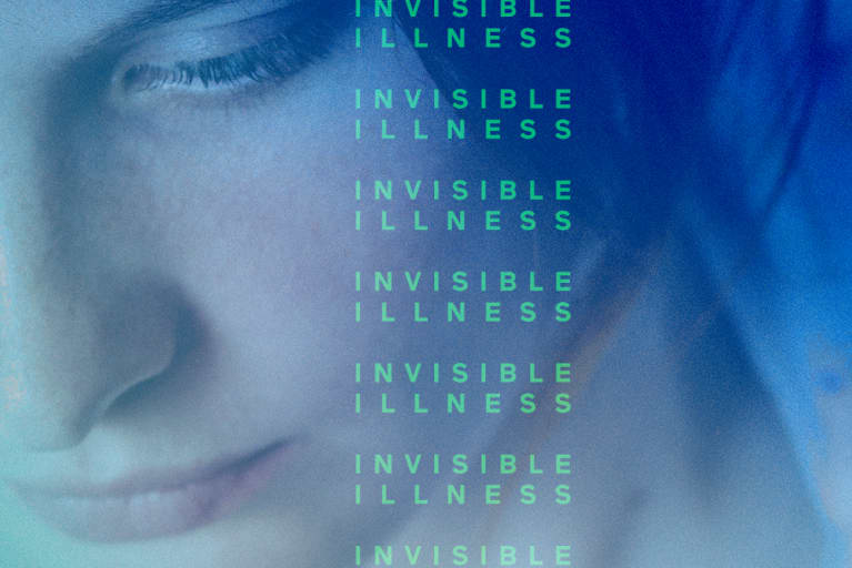woman with invisible illness text