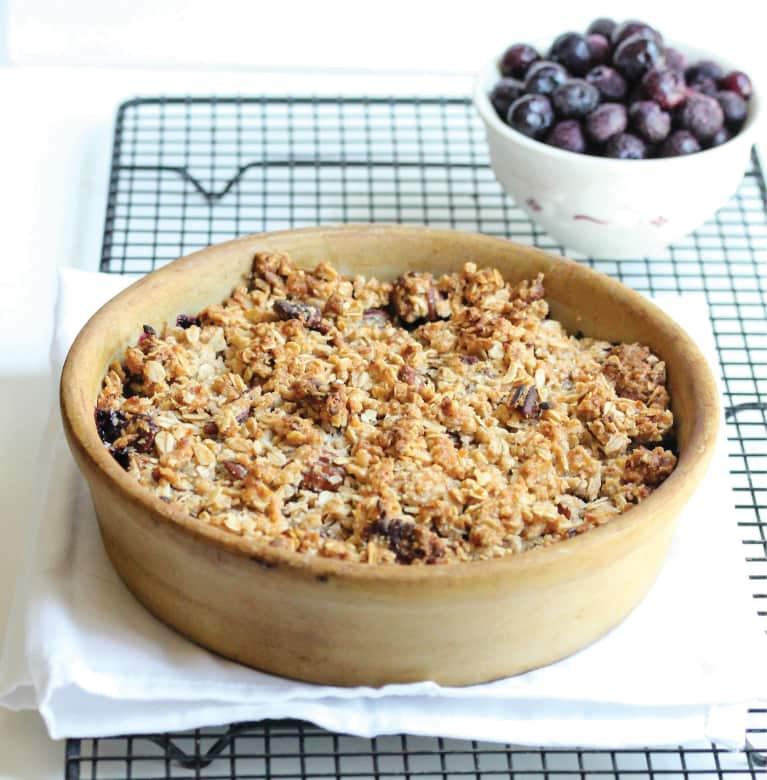 Matcha Blueberry Crisp (Gluten-Free + Vegan)