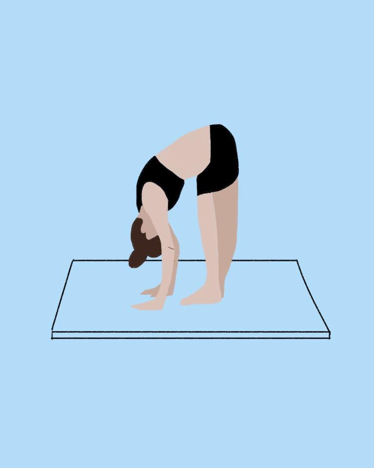 Forward bend hamstring stretch