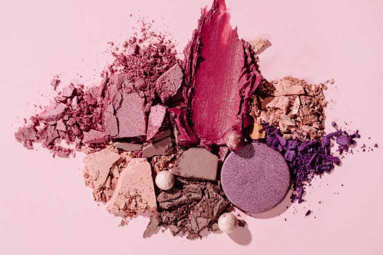 Overhead Photo of Crushed Eye Shadow Palettes