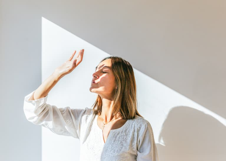 Portrait Of Female In Sunlight
