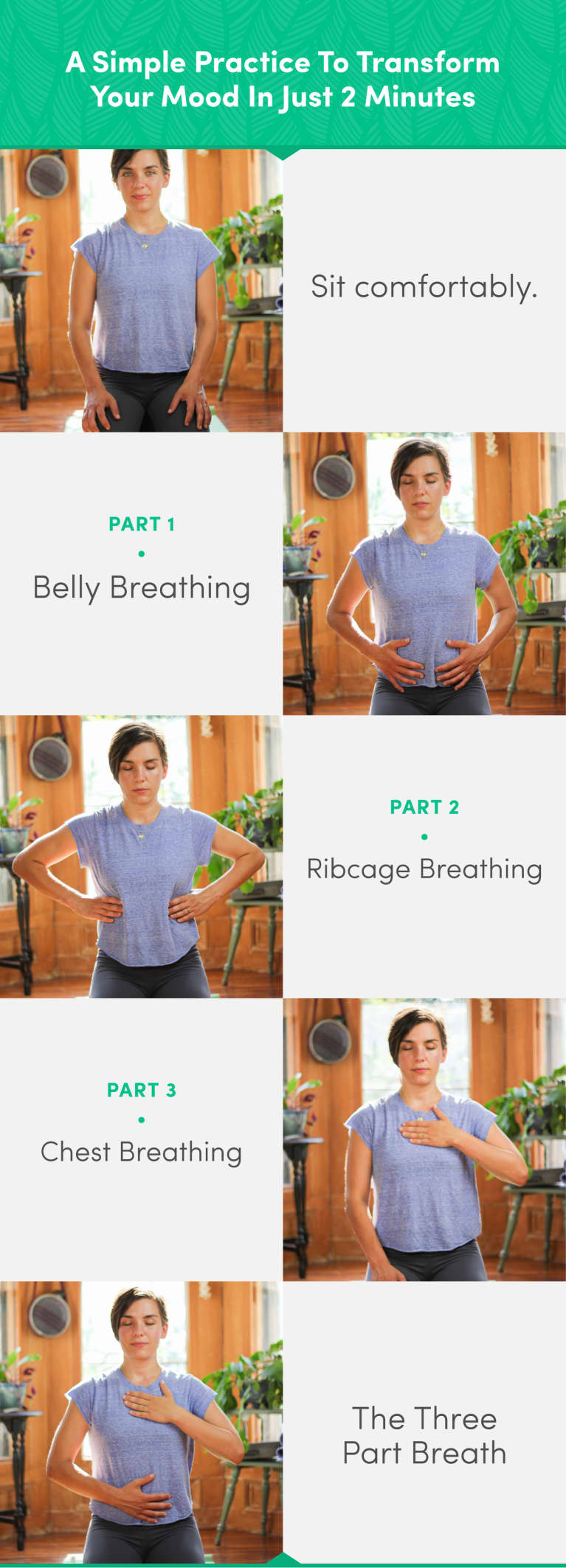 Transform Your Mood In 2 Minutes With This Simple Breathing Practice