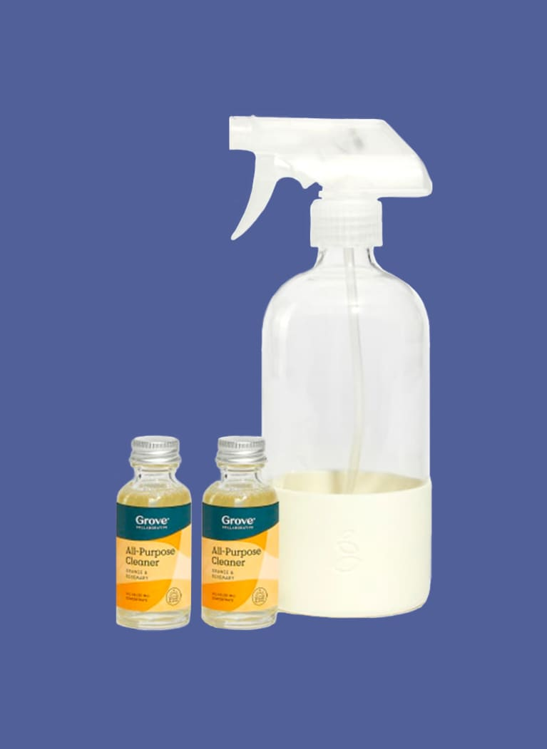 Grove Collaborative shower cleaner and bottle