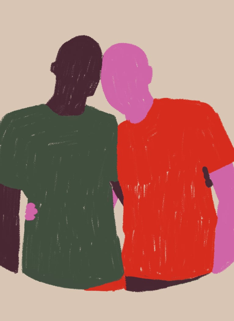 1. Side hug
