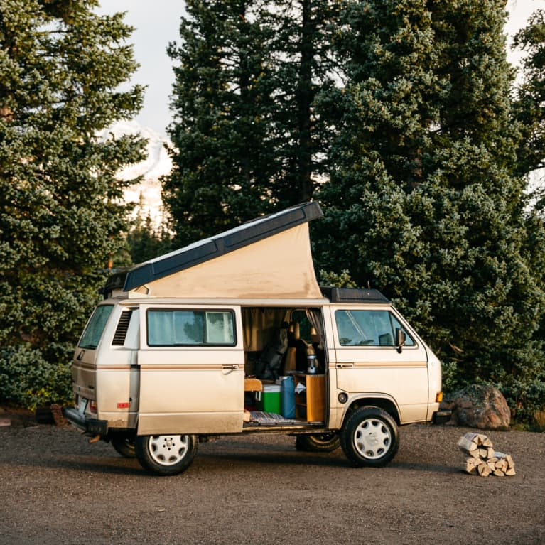 Van Parked In a Campground