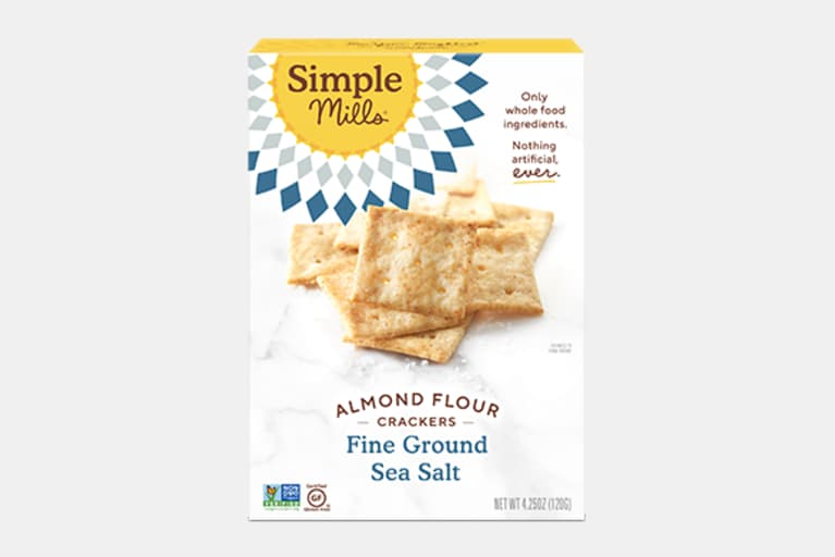 <p>Fine Ground Sea Salt Almond Flour Crackers</p>