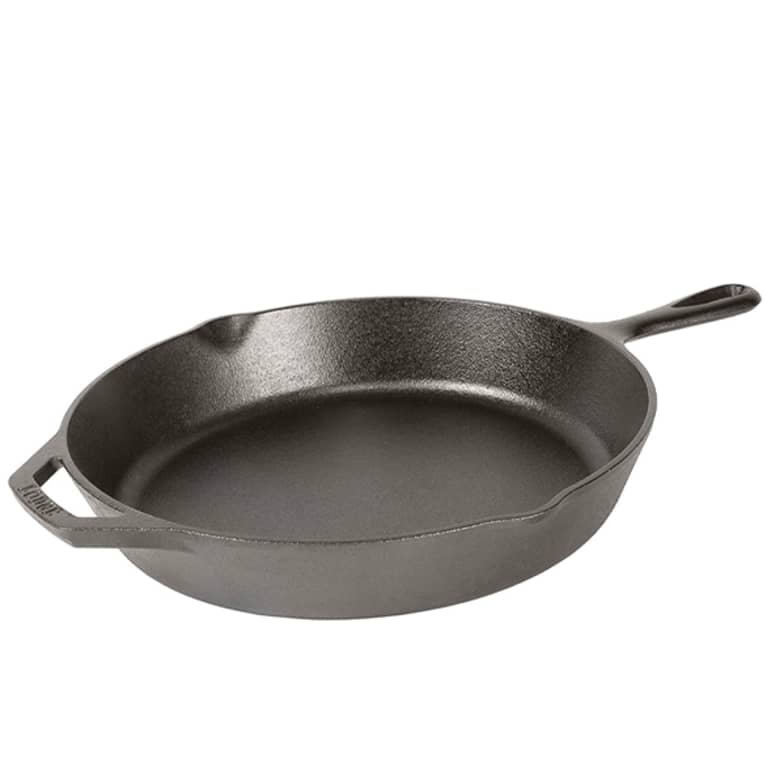 pre-seasoned cast iron pan