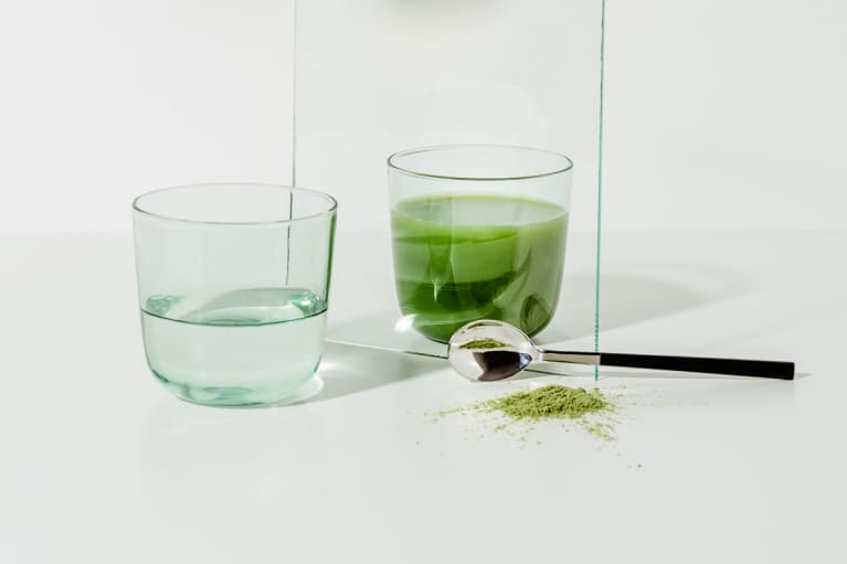 Green Powder and a Glass of Water