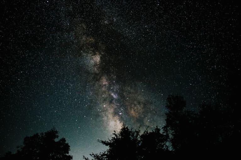 Night Sky with Sagittarius and Ophiuchus Constellations