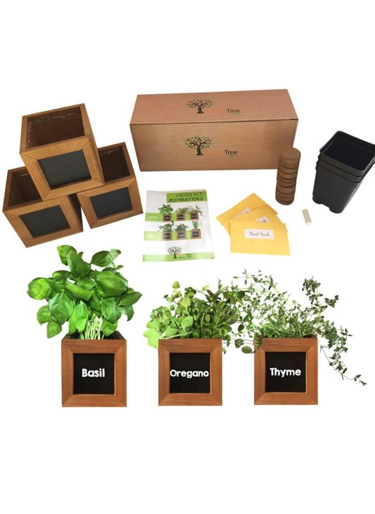 1. Peach Tree Farm Indoor Herb Garden Kit: