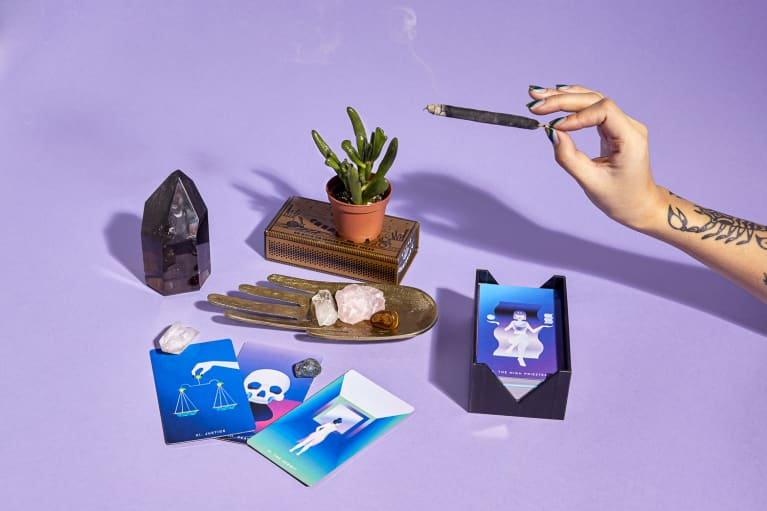 Tarot Cards, Crystals, and Incense