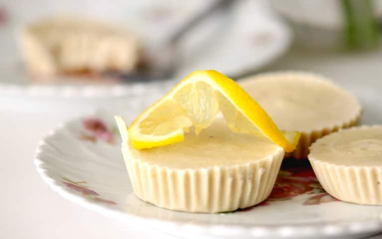 Decadent But Healthy Mini Lemon Cheesecakes (Vegan!)