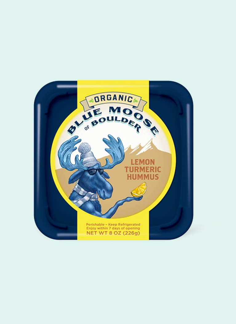 Blue Moose of Boulder Organic Lemon Turmeric Hummus