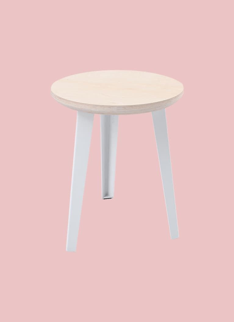 Floyd brand minimal white side table