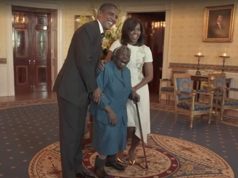 Watch This 106-Year-Old Woman Start A Dance Party With The Obamas