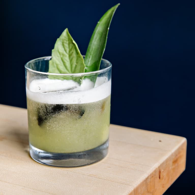 Green Cocktail with Fresh Herbs