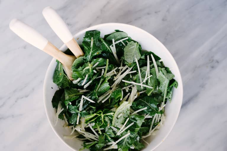 This Healthy Kale Caesar Is Low-Key Packed With Protein & Fiber