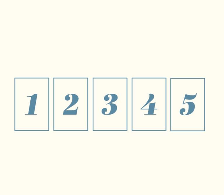 5 card tarot spread illustration