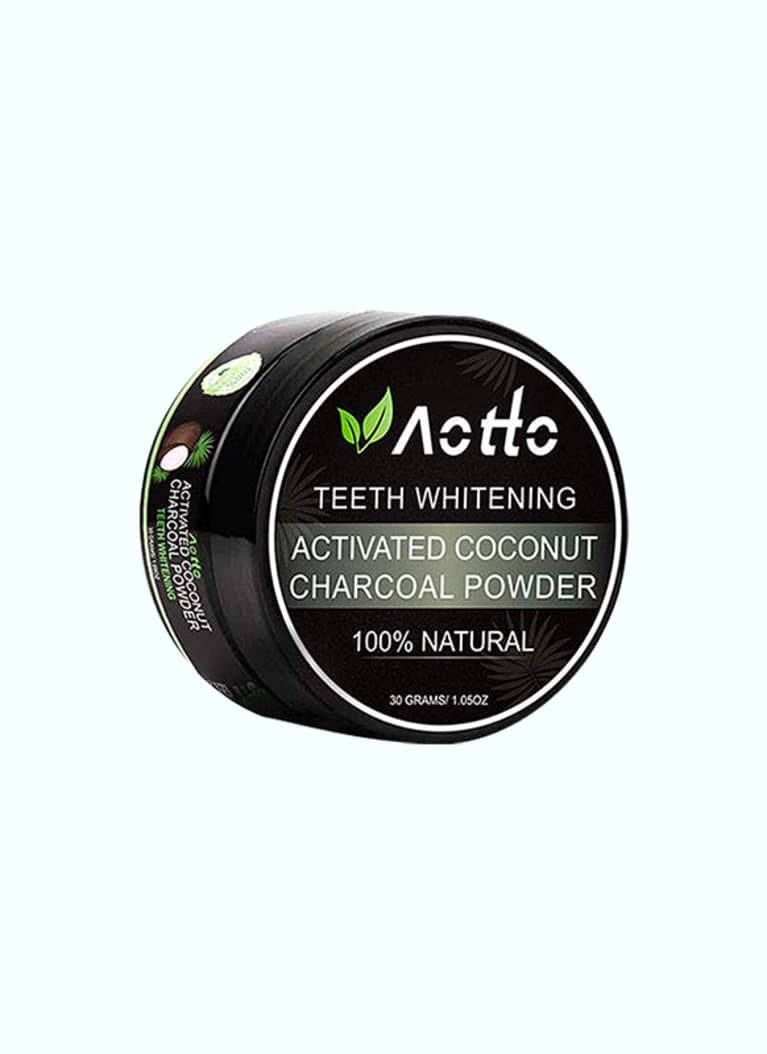 Aotto Teeth Whitening Activated Coconut Charcoal Powder
