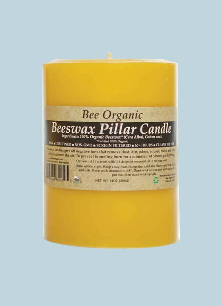 Bee Organic Beeswax Pillar Candle