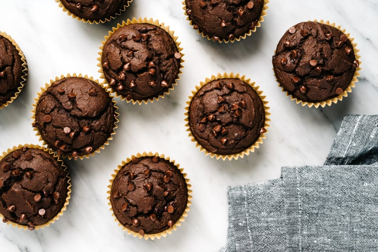 Healthy Fudgy Chocolate Avocado Blender Muffins Are A Pick-Me-Up Treat