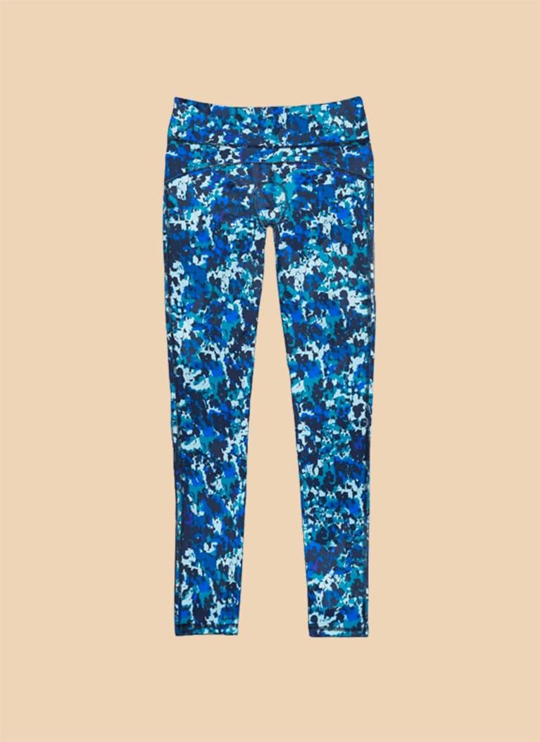 Dear Kate period legging in blue pattern